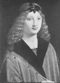 Gian Galeazzo II. Maria Sforza com Sant Sebastià