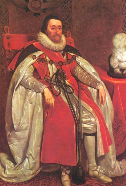 the biography of king james i the king of england